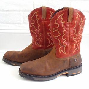 Ariat Steel Toe Slip Resistant Work Boots Size 15